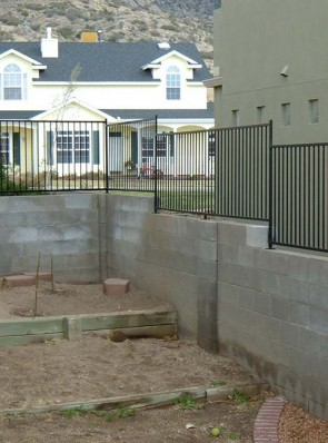 3' high Wall topper railing