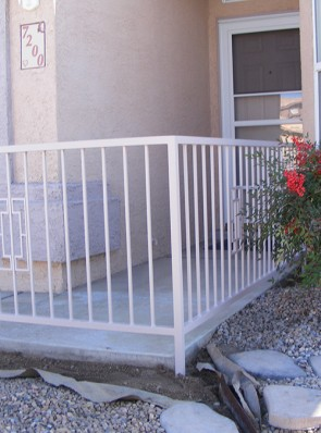 Front courtyard rail with Contemporary design