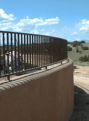 Curved railing with Knuckles and twist design