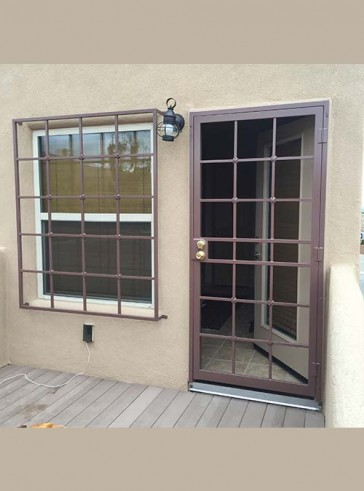 "Securithy door with 3/4"" Divided Light with Cross Strap design"