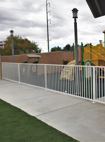 3' high gates and fence