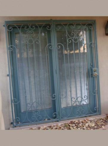 Patio door in Custom scroll design