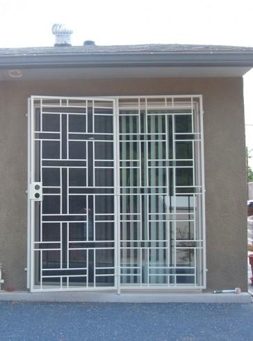 patio door with Basketweave design