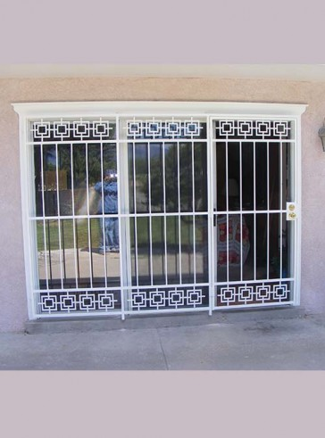 3 panel patio door with Modern design