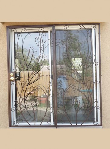 Patio door in Custom scroll design