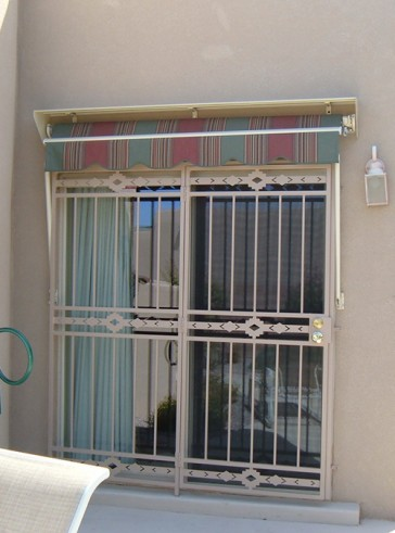 Patio door with High Desert design