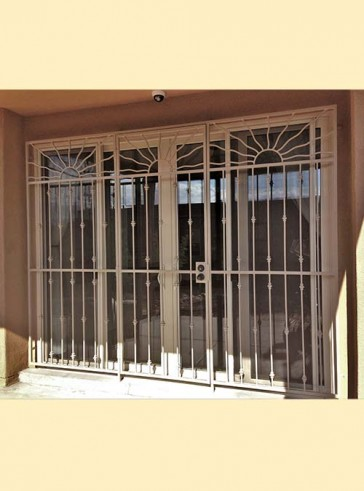 Patio door with Wavy Sun design and Knuckles