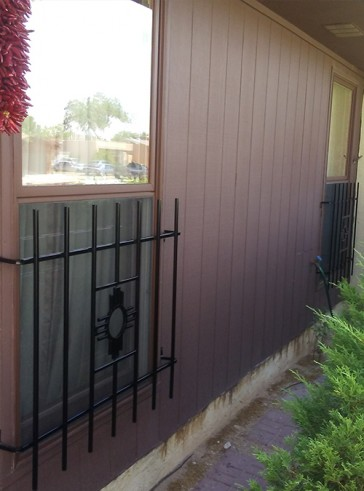 1/2 window grill with Zia design