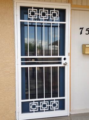 Security screen door in Modern design