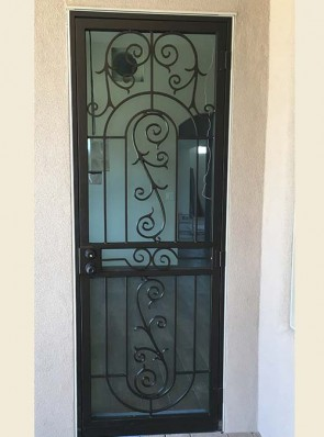 Security door with Custom scrolls design