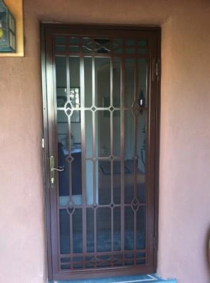 Security storm door in custom design