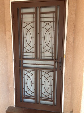 Security storm door in custom design