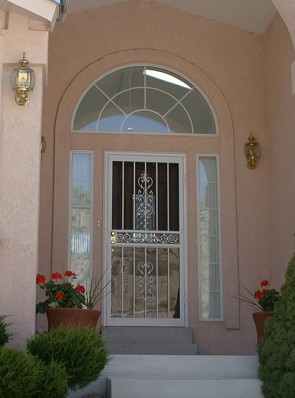 Security storm door in Heritage design