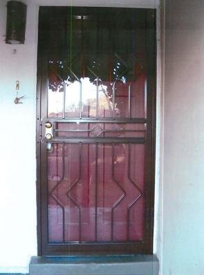 Security storm door with custom design