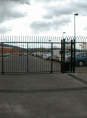 7' sliding commercial gate with operator