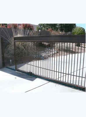 Sliding gate with Solid panel on top