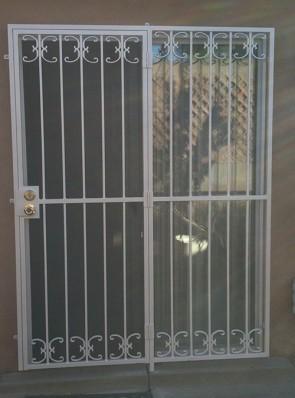 Patio door in Medium C scroll design
