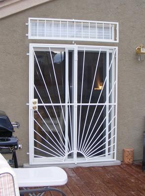 Patio door with Sunray design