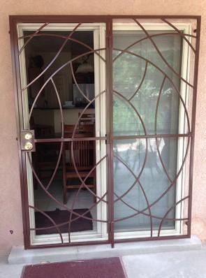 Patio door with Freeform design