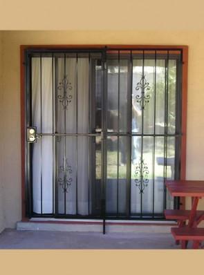 Patio door with Sundance design