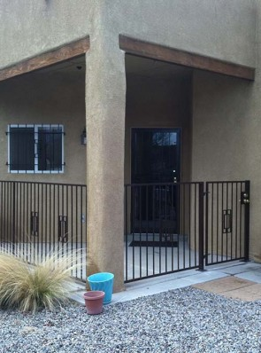 4' high railing and gate in Contemporary gate