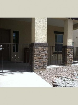 3' high rails and gate with knuckles and baskets design