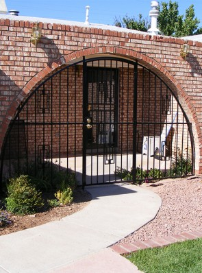 Arched porch enclosure with Contemporary design