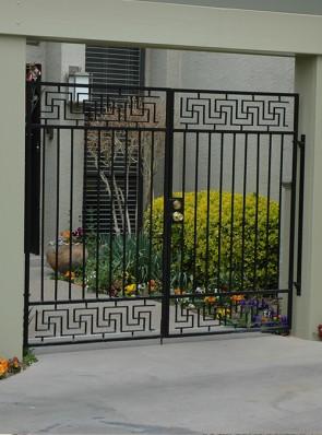 Pr. of entryway gates with Lg. Greek Key design