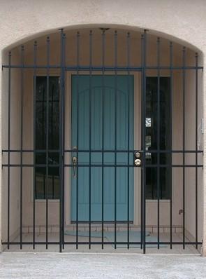 Porch enclosure with Newel cap design