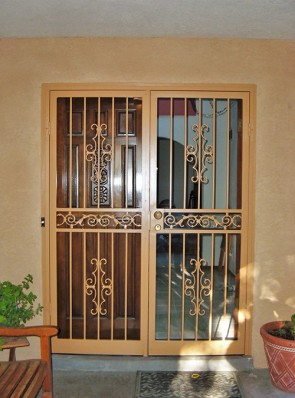 Pr. of Security storm doors in Seville design