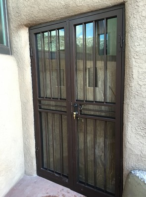 Pr. of Security storm doors with no design