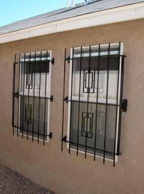 Window grill in Contemporary design with Emergency Fire Release