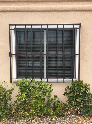 Window grill in Shadow Box design