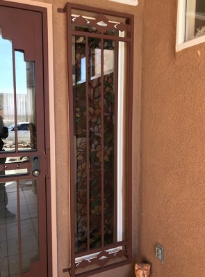 Window grill in High Desert design