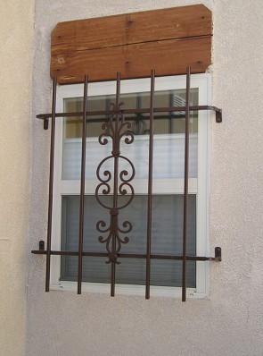 Window grill in Caprice design