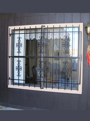 Window grill with Emergency Fire Release in Seville design