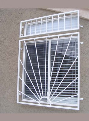 Window grill in Sunray design