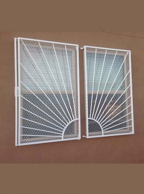 Window grill in Sunray design with Expanded metal