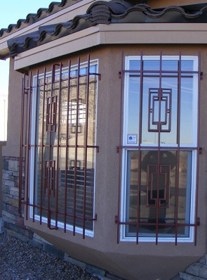 Bay window grills in Contemporary design