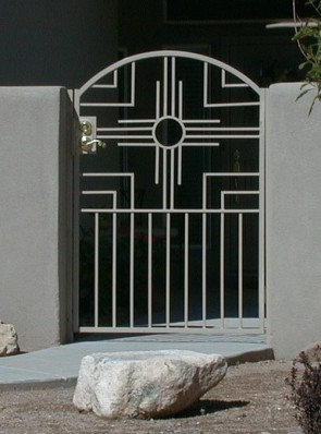 Arched gate with Handmade Zia design